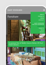 Webdesign Gert voorjans - responsive, mobile view
